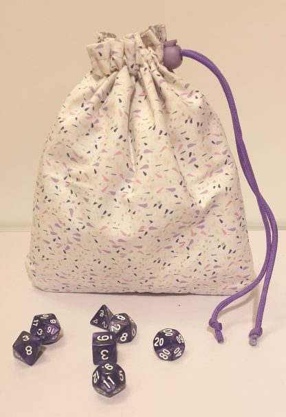 Handmade polyhedral dungeons and dragons dice bag