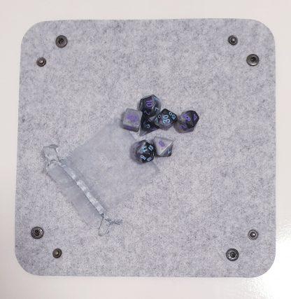 Grey dice rolling tray