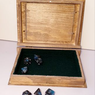 Spell tome dice box for dungeons and dragons polyhedral dice set