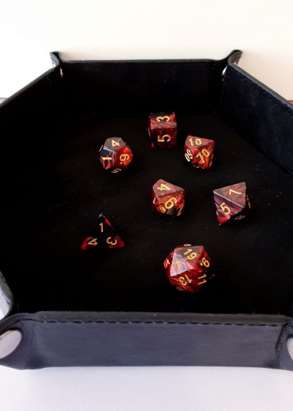 Black dice rolling tray