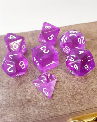 Bard purple dungeons and dragons polyhedral dice set