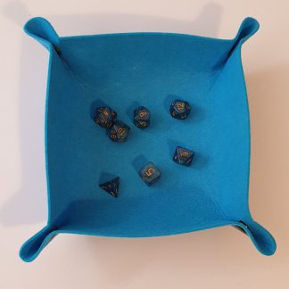 Blue dice rolling tray
