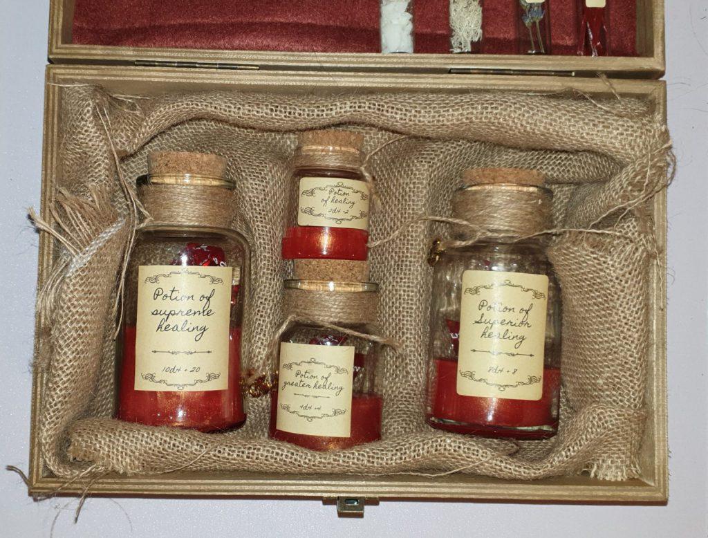 Handmade herbalism kit healing potion dice roller box unfinished